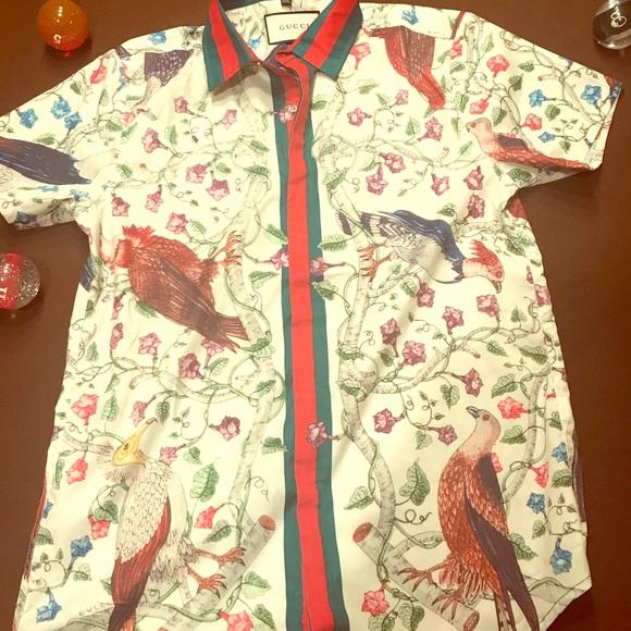 67c544da0 Gucci Shirts | Floral Shirt 100 Authentic | Poshmark